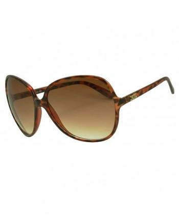 Oversized Sunglasses Proteciton Designer Tortoise
