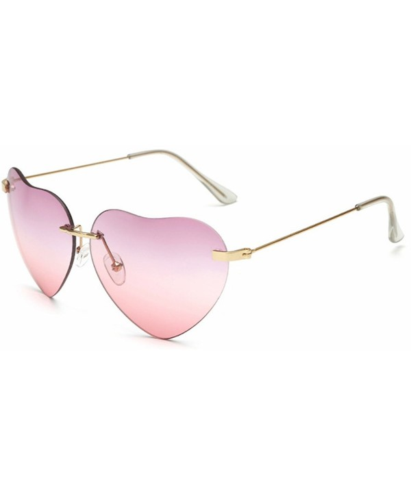 a7688a5880a Heart Sunglasses Thin Metal Frame Lovely Aviator Style for Women ...