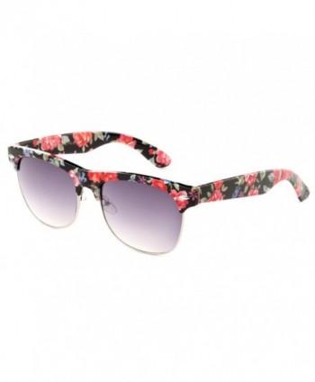 Newbee Fashion Floral Semi Rimmed Sunglasses