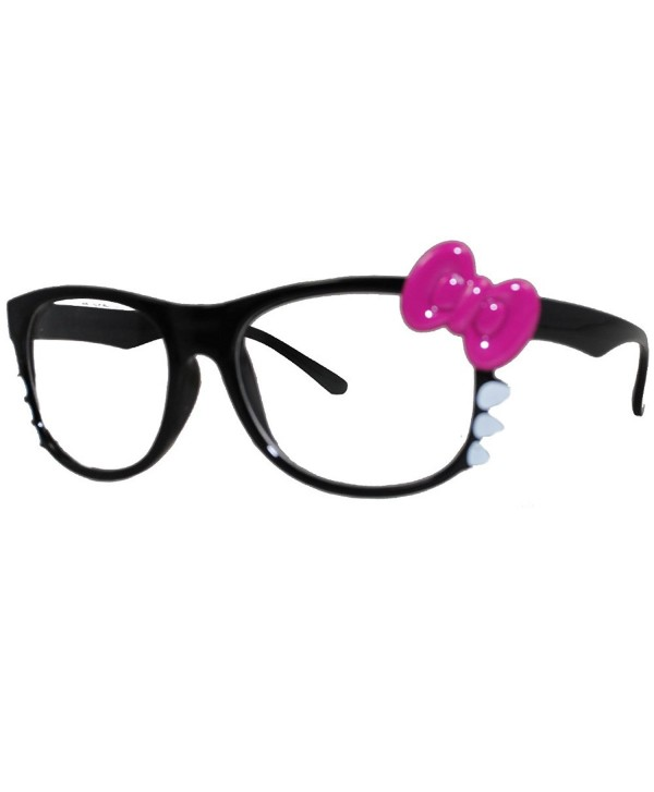 7e69fa65e Hello Kitty Nerd Frame Clear Lens Glasses w/ Bow and Whiskers ...