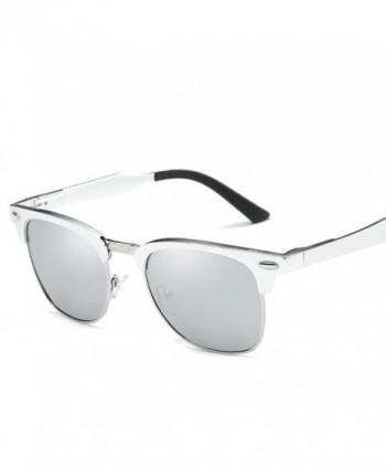 Polarized Sunglasses Magaluma Semi Rimless Silver White
