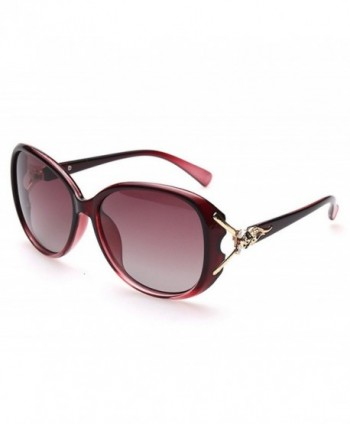 YORFORMALS Womens Polarized Sunglasses Burgundy