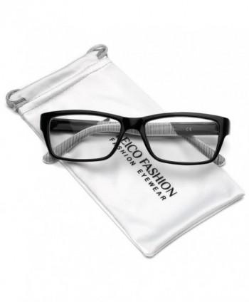 Clear Lens Rectangular Glasses Black