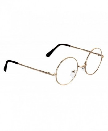 Elite Non-Prescription Lennon Style Round Circle Frame Clear Lens ...