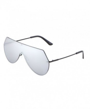 a61420f835 Pastel Color Semi-Rimless Half Frame Horn Rimmed Sunglasses - White ...
