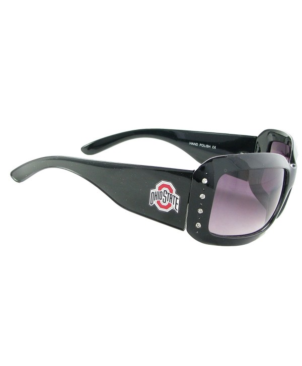 6687f2b477 Ohio State Buckeyes OSU Black Fashion Crystal Sunglasses S4JT ...