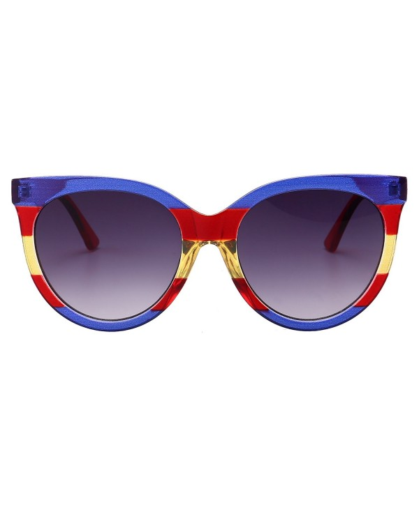 Gobiger Oversized Sunglasses Designer Blue red