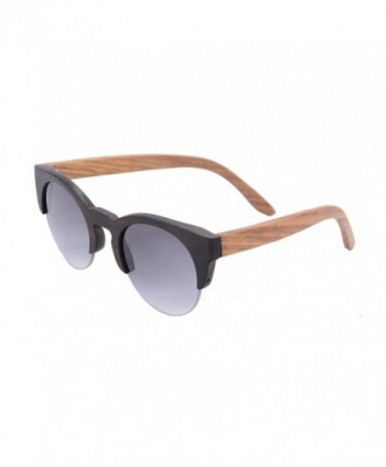 SHINU Sunglasses Semi rimless Sunglasses Z6017 brown pear
