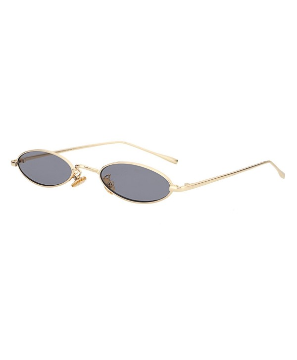 Vintage Oval Sunglasses Small Metal Frames Designer Gothic Glasses ,  C48,gold,gray , CQ189SM25OH