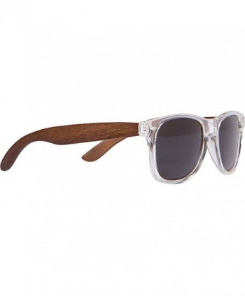 WOODIES Walnut Sunglasses Clear Frame