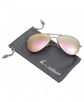 WODISON Mirrored Aviator Sunglasses Sunglass