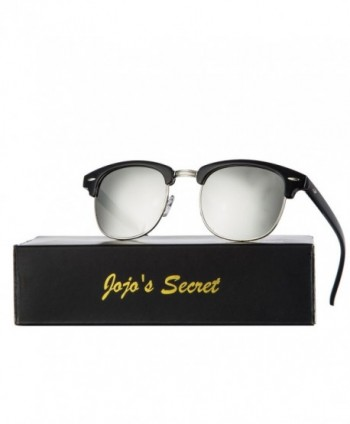 JOJOS SECRET Semi Rimless Sunglasses Silver
