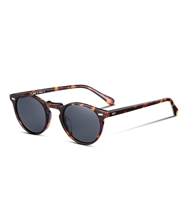 ed44044a1a93d Vintage Round Polarized Sunglasses for Women and Men- 100% UV ...