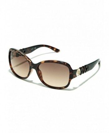 GUESS Factory Womens Chain Temple Sunglasses