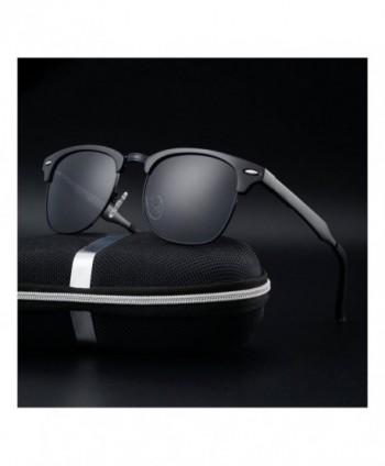 Aluminum Driving Polarized Sunglasses black black
