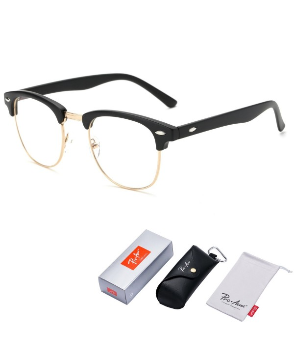 f8d69b2df6f Vintage Inspired Semi-Rimless Clubmaster Clear Lens Glasses Frame ...
