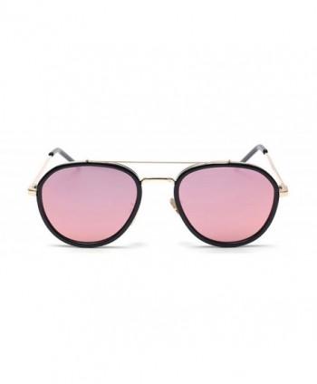 GAMT Round Aviator Sunglasses Mirrored