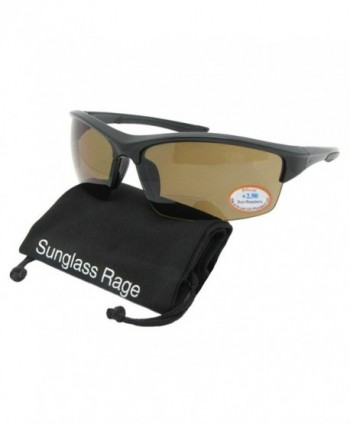 Rimless Around Bifocal Sunglasses Frame Brown