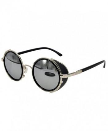 Ucspai Steampunk Sunglasses Silver Reflective
