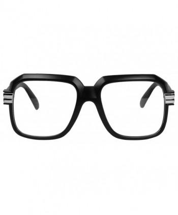 bd8b9fad335 Big Hipster Retro 80 s MC Rapper Clear Lens Hip Hop Eye Glasses ...