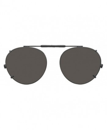 Visionaries Polarized Clip Sunglasses Round
