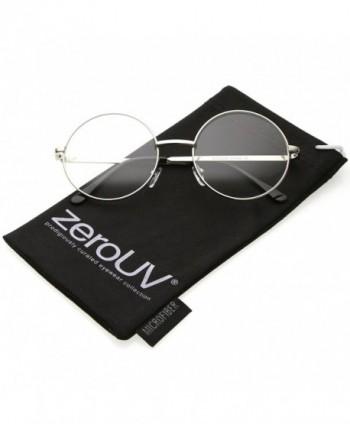 zeroUV Retro Lennon Glasses Silver