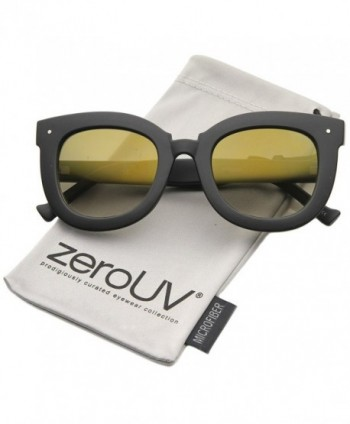 zeroUV Oversized Butterfly Sunglasses Gold Mirror