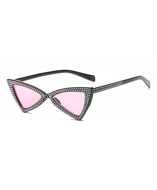 b8a26312125 Clout Goggles Small Cat Eye Sunglasses Bold Retro Mod Diamond-set ...