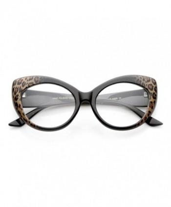 zeroUV Pointed Fashion Glasses Cheetah