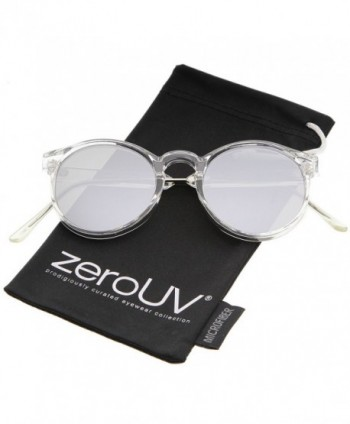 zeroUV Temple Mirror Sunglasses Clear Silver