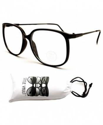 Style Vault Oversized Eyeglasses Black Clear