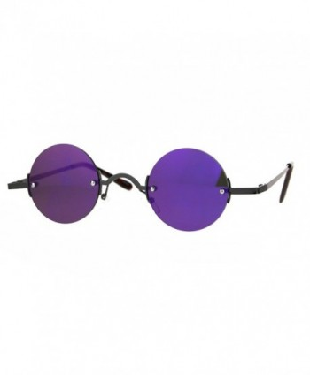 Mirror Hippie Rimless Sunglasses Gunmetal