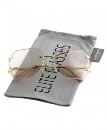 RIMLESS OVERSIZED CLASSIC VINTAGE GLASSES