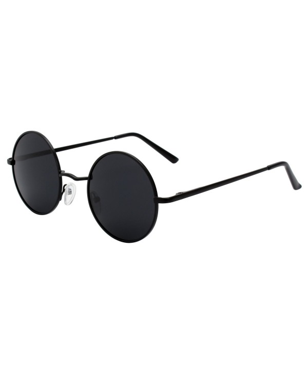66bb9064f1b ... Vintage Round Mirrored Polarized Sunglasses with UV400 Protection MFF7  - 51mm Black Grey - CA186T3CMT3. GQUEEN Classic Polarized Sunglasses  Protection