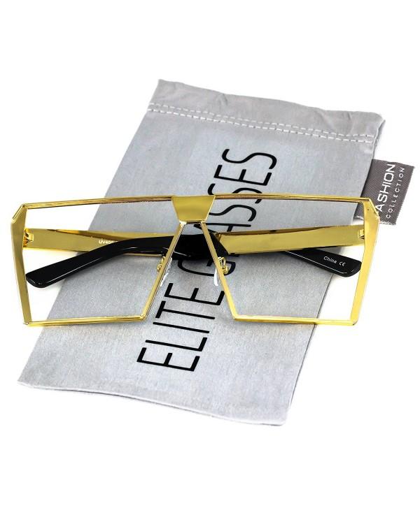 Elite Oversized Square Silver Sunglasses