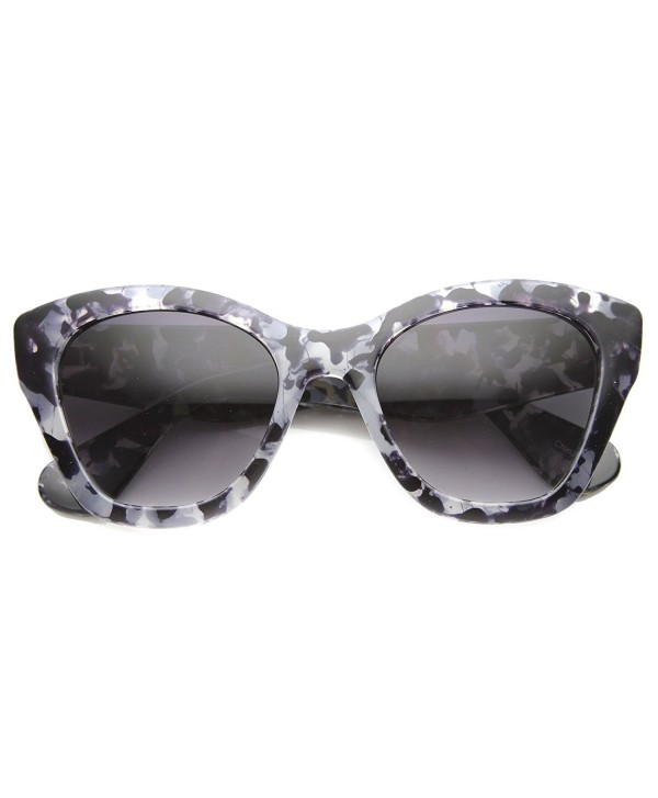 6c15614193 Womens Modern Chic Block Tortoise Bold Chunky Cat Eye Sunglasses ...
