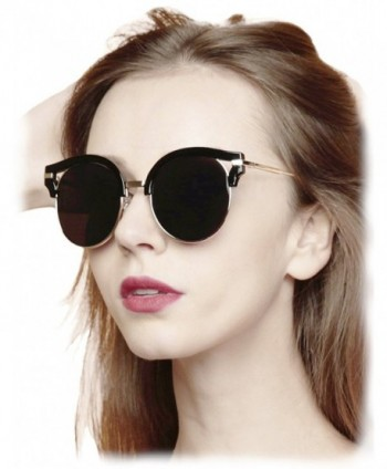 O2 Eyewear Oversize Mirrored Sunglasses