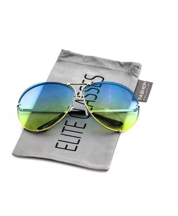 Aviator Oceanic Design Frames Sunglasses