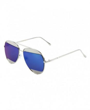 Iridium Mirror Aviator Sunglasses Silver