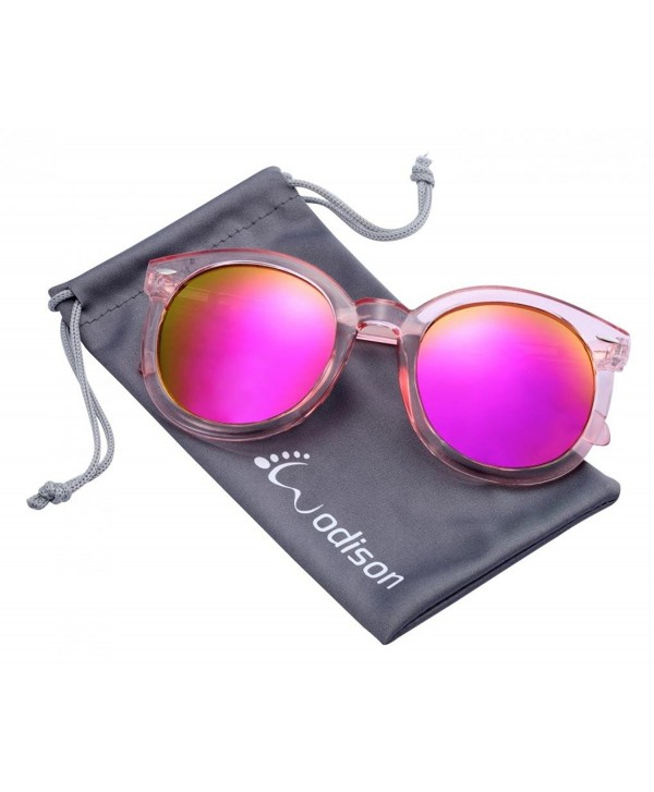6c32a67c88f Womens UV400 Protected Classic Mirrored Lens Clear Frame Sunglasses ...