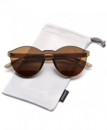 COASION Rimless Sunglasses Transparent Fashion