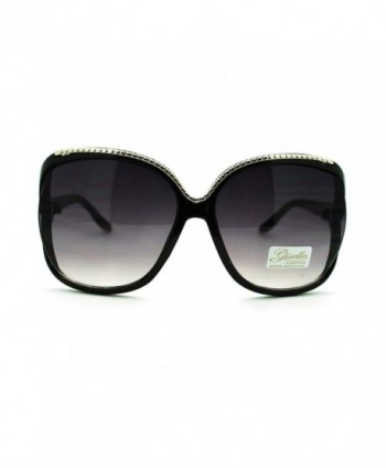 Giselle Womens Oversized Butterfly Sunglasses