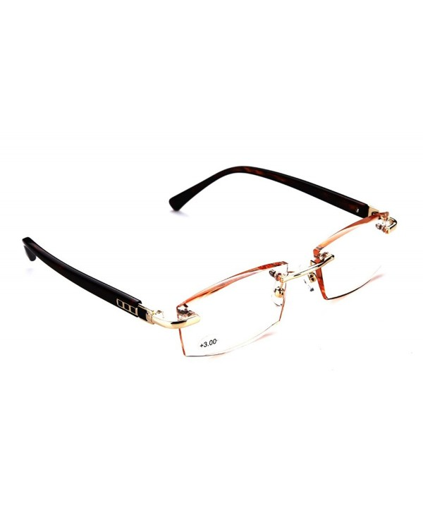 SOOLALA Diamond Gradient Leopard Rimless