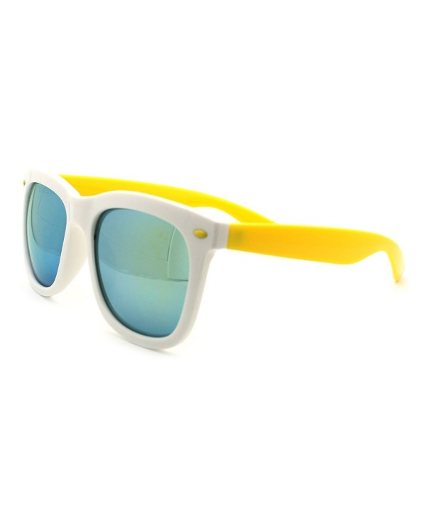 Hipster Oversized horned Sunglasses Yellow