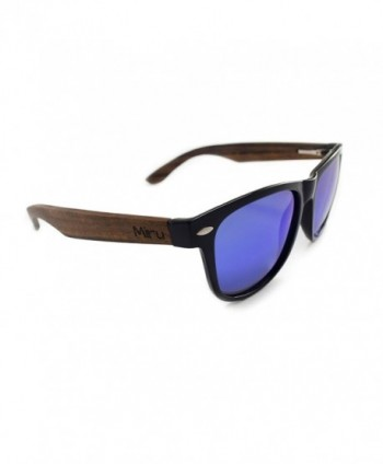 Ebony Wayfarer Sunglasses Ocean Mirror