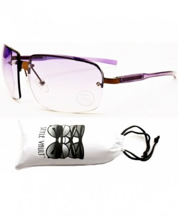 Style Vault Semi Rimless Sunglasses Purple Purple
