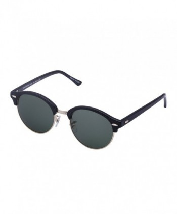 Unisex Clubround Aviator Sunglasses Wenlenie