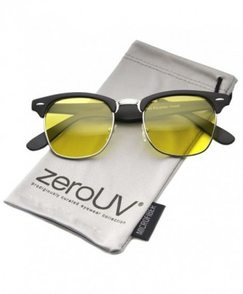 zeroUV Polarized Semi Rimless Sunglasses Matte Black