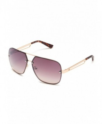 GUESS Factory Rimless Navigator Sunglasses