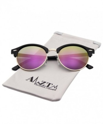 AMZTM Semi rimless Wayfarer Sunglasses Polarized